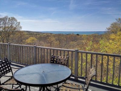 Panoramic water view of Vineyard Sound and the Elizabeth Islands