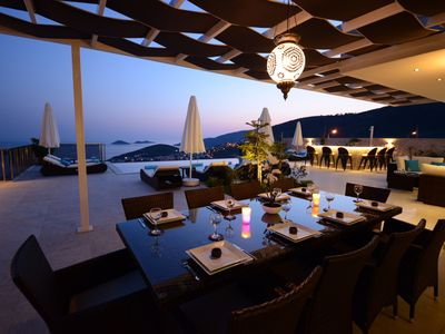 Photo for Contemporary Villa, amazing sea views, heated infinity pool, daily maid service