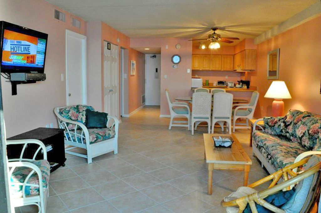Just Steps To Beach Is This Colorful 2 Bedroom Oceanfront Condo With Outdoor Pool And Great