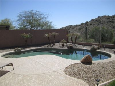 Photo for Extraordinary Estrella Mountain! Private Heated Pool! Nascar!