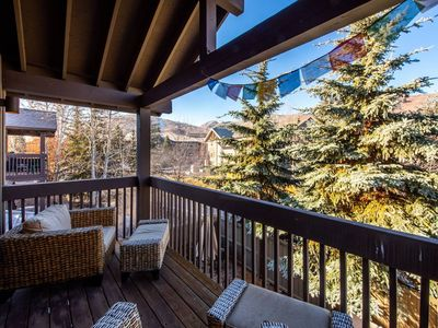 Photo for JUST LISTED! Ultimate Park City Convenience: Private Hot Tub, Real Wood Fire.
