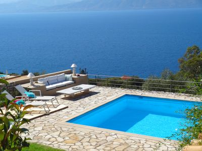 Photo for Mesmerizing panoramic sea and mountain view... from the swimming pool