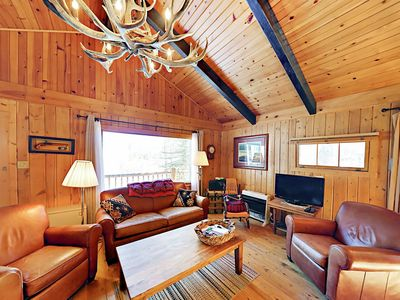 Photo for TurnKey - Authentic 2BR Log Cabin on Colorado River w/ Huge Wraparound Deck