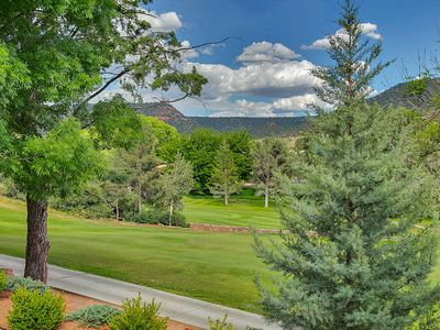 Photo for Beautiful Sedona Casita with awesome views of private Golf Course & Red Rock Mts