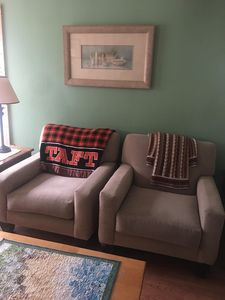 Comfy chairs you can curl up in!