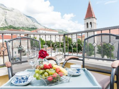 Photo for Villa Kala old stone house in historic center of Makarska with heated pool