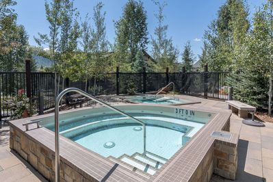 The TWO hot tubs are ready and waiting - just 50 steps from your door (seasonal closures)