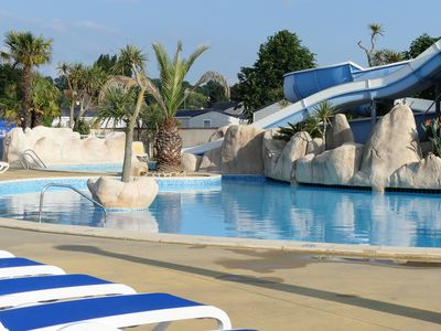 Photo for Mobile Home in Camping 5 ***** 500 m from the sea with Water Park