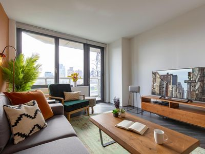Photo for Tranquil East Village 1BR Gym, Garden + Doorman by Blueground
