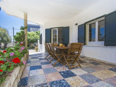 Photo for Villa with large garden overlooking the sea in San Foca