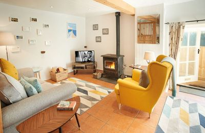 Photo for Seekings is an open plan cottage with a private patio with glorious views of the countryside.