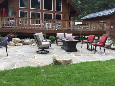 Patio Area with propane fireplace