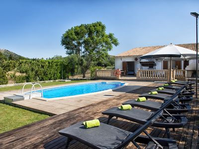 Photo for Villa in Alcúdia for 8 pool bbq wifi Sat-tv! FEW WEEKS AVAILABLE IN SEPT/OCT!!!