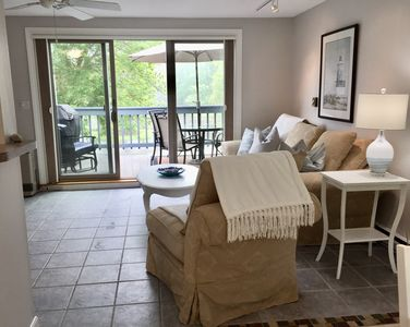 Photo for Steps to Beach, Pond View Ocean Park Meadows Condo with AC + Pool, Gym, Tennis