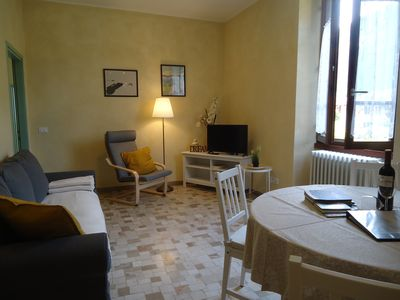 Photo for pretty apartment with garden in historical walls, only 200m to the beach / lake