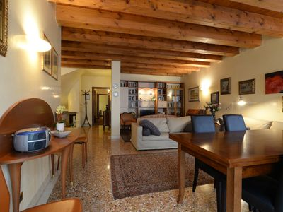 Photo for Heart of Padua Exclusive apartment with view of Piazza Delle Erbe