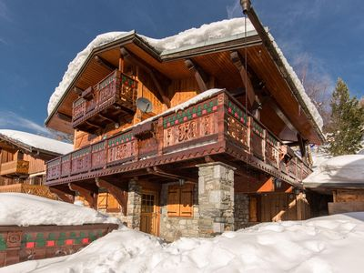 Photo for Chalet Plagne1800,, 12 people with sauna, in the center, 200 / 300m from the slopes