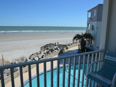 Photo for OCEANFRONT 2 BR Condo-End unit with AMAZING views!