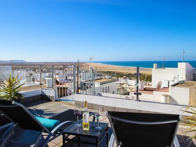 Photo for exclusive townhouse, just 200m from the beach, with fantastic seaviews from private terrace, for 2-4 persons, a/c warm/cold, SAT-TV, free Wi-Fi, safe.