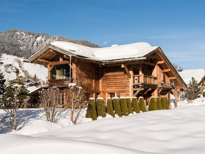 Photo for Luxury chalet on the slopes! Close to the center of Megève.