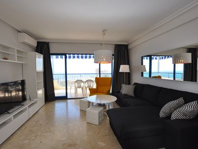 Photo for First line!!! 20m beach!!! 3bdr 2bath great balcony wonderful panoramic view