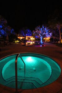 Nighttime view from hot tub.