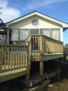 New porch on the front.