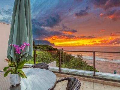 Photo for Stunning, spacious Oceanfront Condo with A/C & Spectacular Bali Hai Sunset views