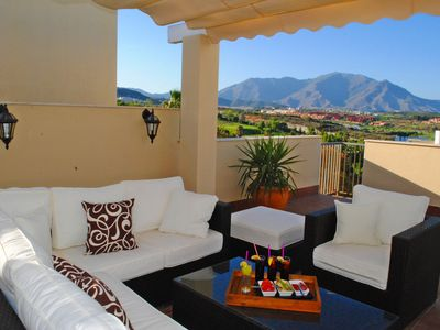 Photo for Fantastic 2 bed 2 bath penthouse in Doña Julia Golf Resort. Sleeps 6 Shared Pool