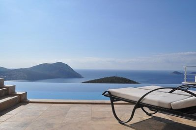 Infinity pool with uninterrupted spectacular views
