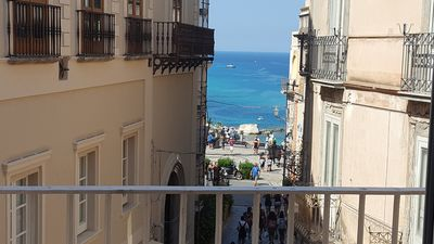 Photo for Roberta 's Penthouse . Historic centre of Tropea. Sea View!
