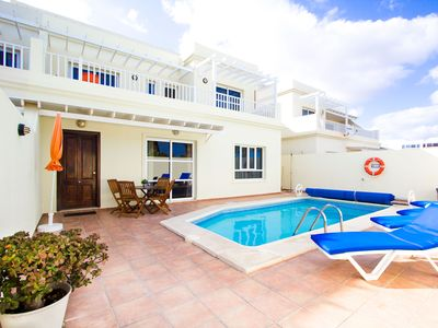 Photo for Superb Villa With Private Heated Pool, Great Sea Views And Short Walk To Beach
