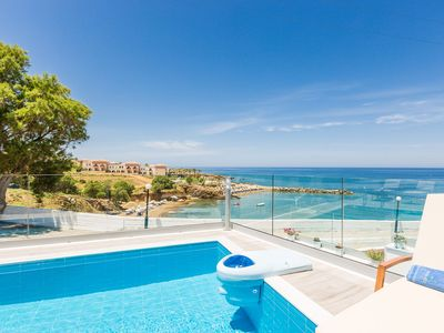 Photo for Premium Beachfront Villa with private Pool & Panoramic Sea Views From Any Angle