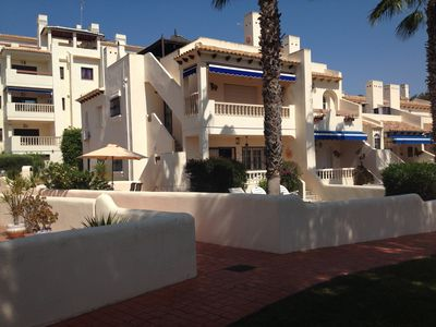 Photo for Costa Blanca: appart. DRC, 4km from the sea, large garden, LAS RAMBLAS ORIHUELA COSTA
