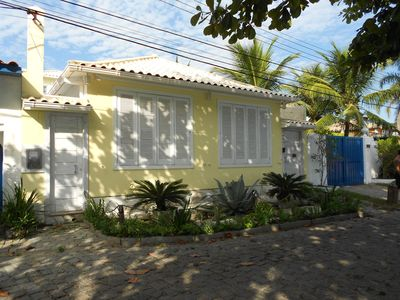Photo for House with foot in the sand, panoramic view, beautiful sunset in point de Buzios.