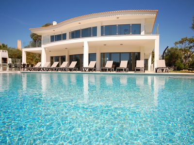 Photo for Luxury 5 Bed-Sleeps 10+2 Villa w/Great Sea Views-Private Pool/Garden-Near Beach
