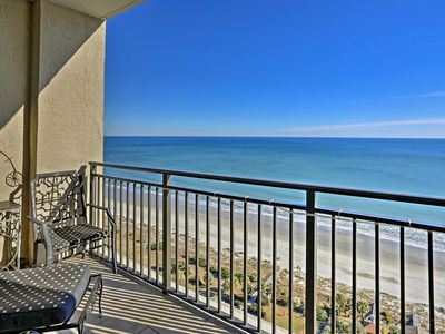 Photo for Oceanfront Myrtle Beach Resort Penthouse - Views!