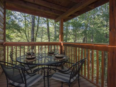 Photo for Romantic Cabin Near Fishing Pond-Screen Porch-Hot Tub-Free WiFi-Pets OK-Privacy