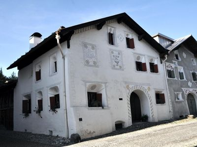 Photo for The authentic Engadin farmhouse from 1724 in the old village center Scuol
