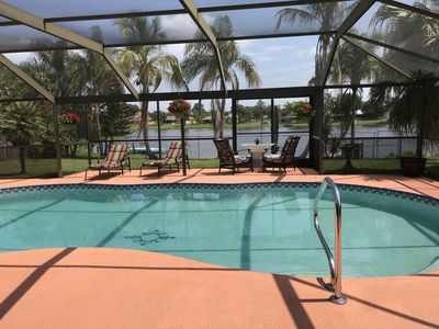Photo for Beautiful tranquil lakeside pool home, perfect for a relaxing Florida get away