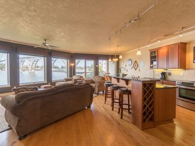 Photo for Luxury bay front condo just south of the Newport bridge with stunning views!
