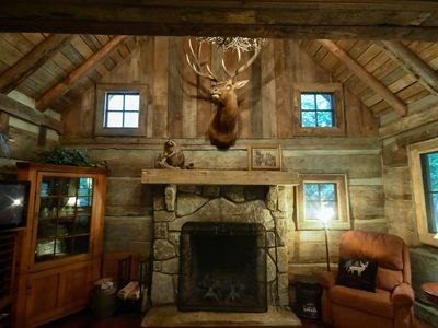 Photo for Creekfront Vintage Log Cabin- Dog Lovers Paradise!
