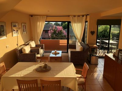 Photo for 145m2 duplex apartment overlooking GOLF