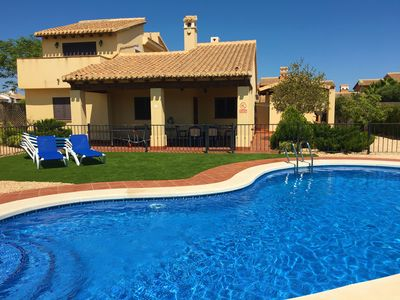 Photo for Detached Luxury Villa With Fenced off Private Pool and free Wi-Fi.