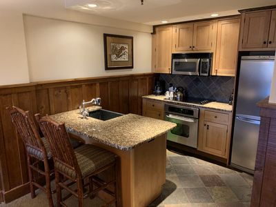 Kitchen with Island in the 2 Bedroom with all the essentials