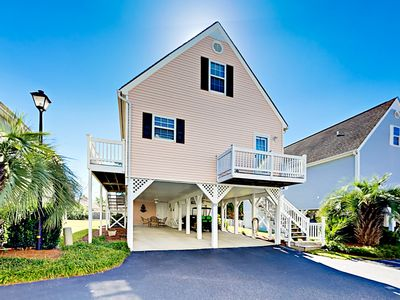 Photo for Cottage w/ 2 Master Bedrooms & Sunset Views over Marsh - Short Walk to Beach
