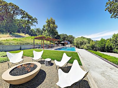 Photo for New Listing! High-End Wine Country Estate w/ Pool, Spa, Bocce & Fire Pit