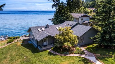 Photo for BEAUTIFUL WATERFRONT HOME WITH GREAT BEACH ACCESS