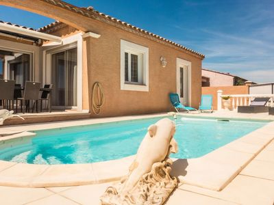 Photo for Spacious furnished holiday villa with private pool and covered terrace