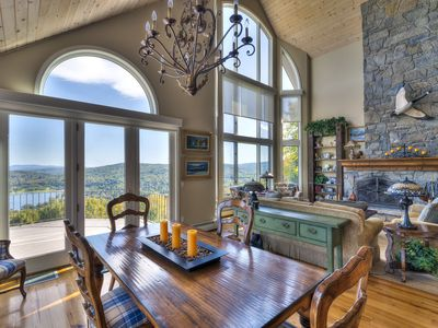 Photo for 5 Bedroom Luxury Home on Quechee Ski Hill with Monument Views of Lake Pinneo